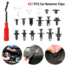421pcs Car Body Push Pin Rivet Trim Panel Fastener Clip Moulding Assortment Clip Removal Plier Weatherstrip Retainer+Tool стоимость