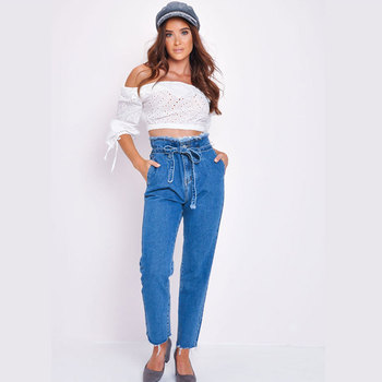 2019 Skinny Jeans Woman Fashion Autumn High Waist Fringed Belt Women's Jeans Ripped Jeans for Women Clothes High Waist Jeans фото