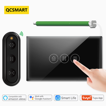 Tuya Smart Life Curtain Switch Remote Control Blinds Engine Roller Shutter RF+WiFi App Timer Google Home Alexa Echo Black
