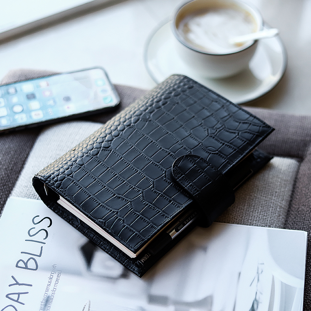 Moterm Genuine Leather Regular Personal Size Planner with 25 mm Binder Rings Notebook Agenda Organizer Diary Journal Sketchbook 3