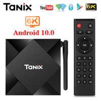 2020 Tanix TX6S Android 10 Dispositivo de TV inteligente Allwinner H616 4GB 32GB 64GB TX6 Set Top BOX compatible con 4K doble WiFi Youtube Netflix 2G 8G