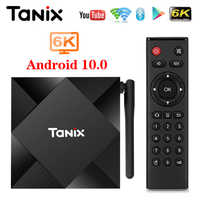 2020 Tanix TX6S Android 10 Smart TV BOX Allwinner H616 4GB 32GB 64GB TX6 Set Top Box Support 4K Duble WiFi Youtube Netflix 2G 8G