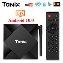 2020 Tanix TX6S z systemem Android 10 Smart TV BOX Allwinner H616 4GB 32GB 64GB TX6 zestaw obsługa dekodera 4K podwójna WiFi Youtube 2G 8G