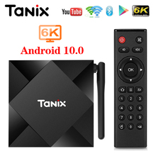 2020 tanix TX6Sアンドロイド10スマートテレビボックスallwinner H616 4ギガバイト32ギガバイト64ギガバイトTX6セットトップボックスサポート4 18k duble wifi youtube 2グラム8グラム