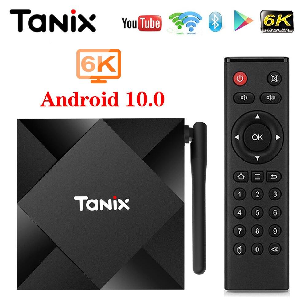 Tanix TX6S Android 10.0 Smart TV BOX Allwinner H616 4GB 32GB 64GB TX6 Set Top Box Support 4K Duble WiFi Youtube Netflix 2GB 8GB