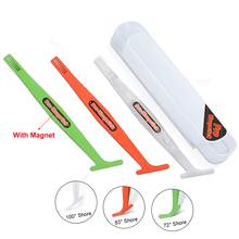 EHDIS 3pcs/Kit Car Vinyl Wrap Magnetic Micro Squeegee Carbon Fiber Film Sticker Magnet Corner Stick Tool Wrapping Applicator