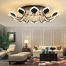 Living Room Lamp Crystal Ceiling Light Modern Household Lighting Simple Atmospheric Round led Ceiling Lamp Bedroom Ceiling Lamps modern minimalist fashion crystal living room lamp designer luxury atmospheric bedroom study ceiling lamp led lighting fixture
