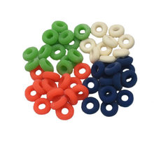 50 Pcs Pig Cattle Sheep Cutting Tail Rubber Rings High Elastic Tendon Rubber Castrating Ring Farm Animal Accessories