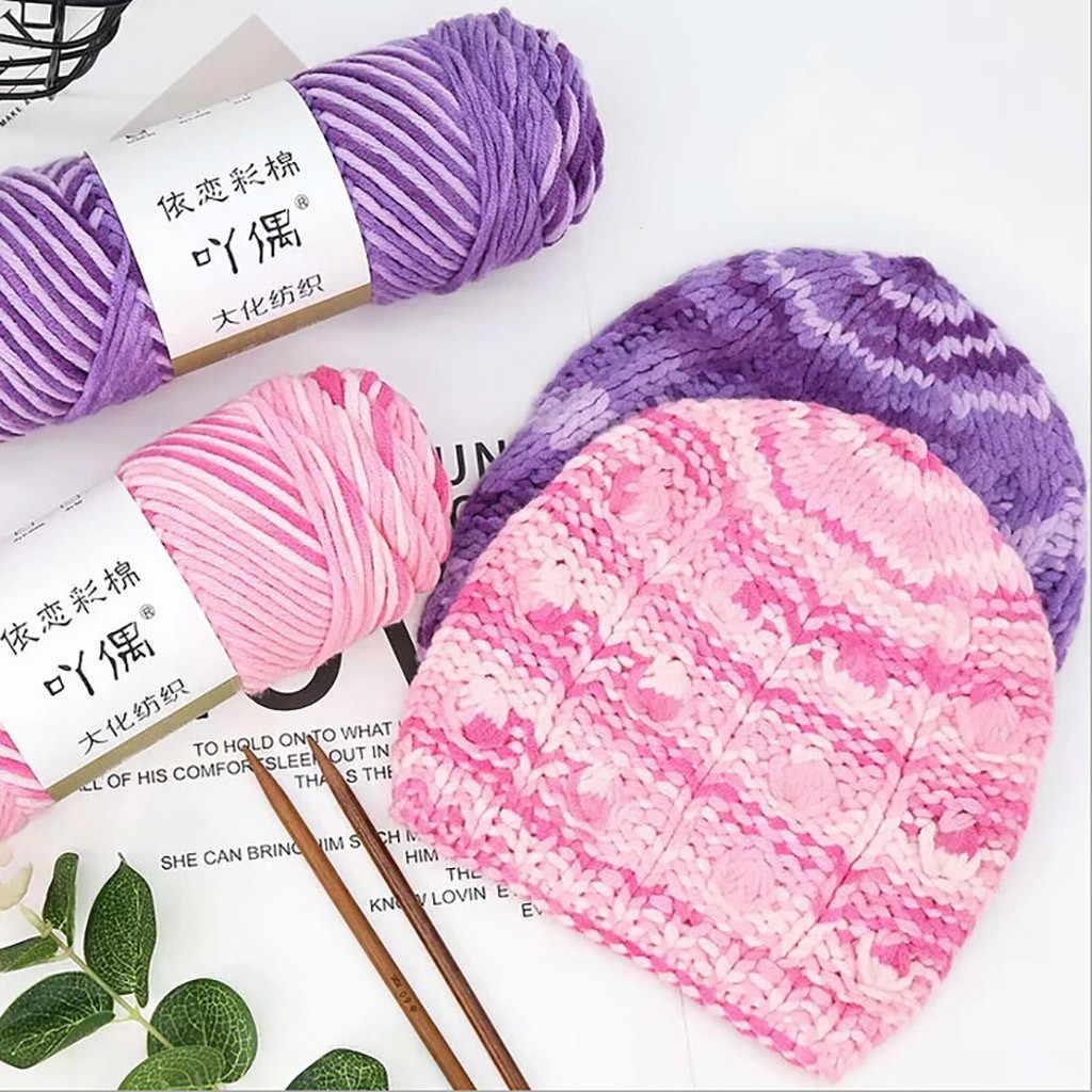 100G Alami Lembut Susu Benang Katun Tebal Benang untuk Merajut Kekasih Syal Rajut Wol Benang Rajut Menenun Benang # N