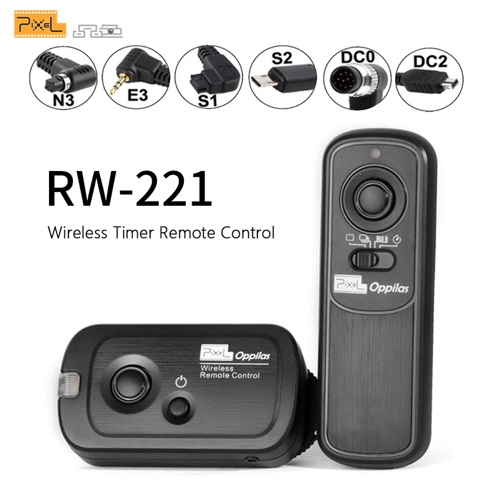Disparador Mando a Distancia RW-221//S2 Control Remoto Inal/ámbrico para Sony Sistema de Control Inal/ámbrico FSK 2,4GHz