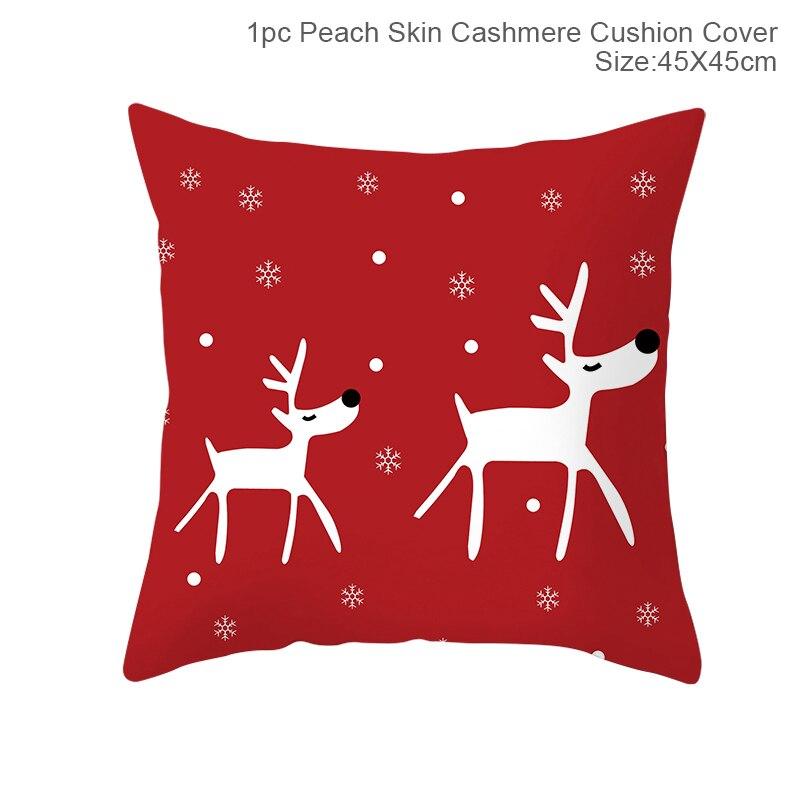 Hfd83f25d680d447aad14d3cf8a19d286D Christmas Pillow Coussin Cartoon Geometric Cushions Case Christmas Home Decorative Cushion For Sofa Xmas DIY Soft hug Pillowcase