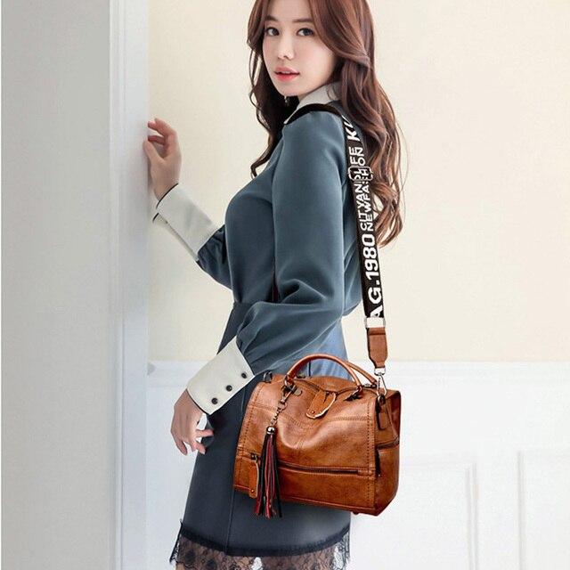 Vintage Tassel Soft Leather Handbags  5
