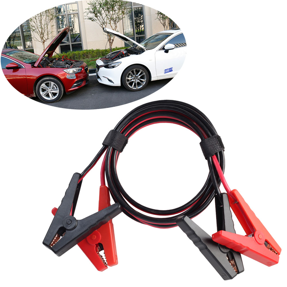 Автомобильный пусковой кабель 2,5 м, автомобильный пусковой соединительный кабель, аварийный зарядный шнур для аккумулятора, медный провод ...