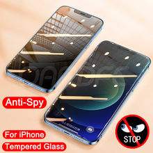 9D Anti Spy Tempered Glass For iPhone 11 12 Pro XS Max XR X Screen Protector iPhone 8 7 6 6S Plus 5S SE 2020 Private Glass Film