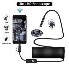 Эндоскопическая камера qzt с micro usb Бороскоп wi fi водонепроницаемая