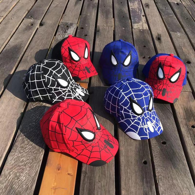 Cotton NEW Marvel The Avengers Spiderman Sign Hip Hop Hat Model Christmas Gift Cap Toys