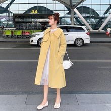 Fashion Turn-down Collar Harajuku Trench-coat Women Autumn Long-sleeved Casual Multicolor Long-coat Office Lady Slim Windbreaker набор столовых ножей appetite юта 3 предмета