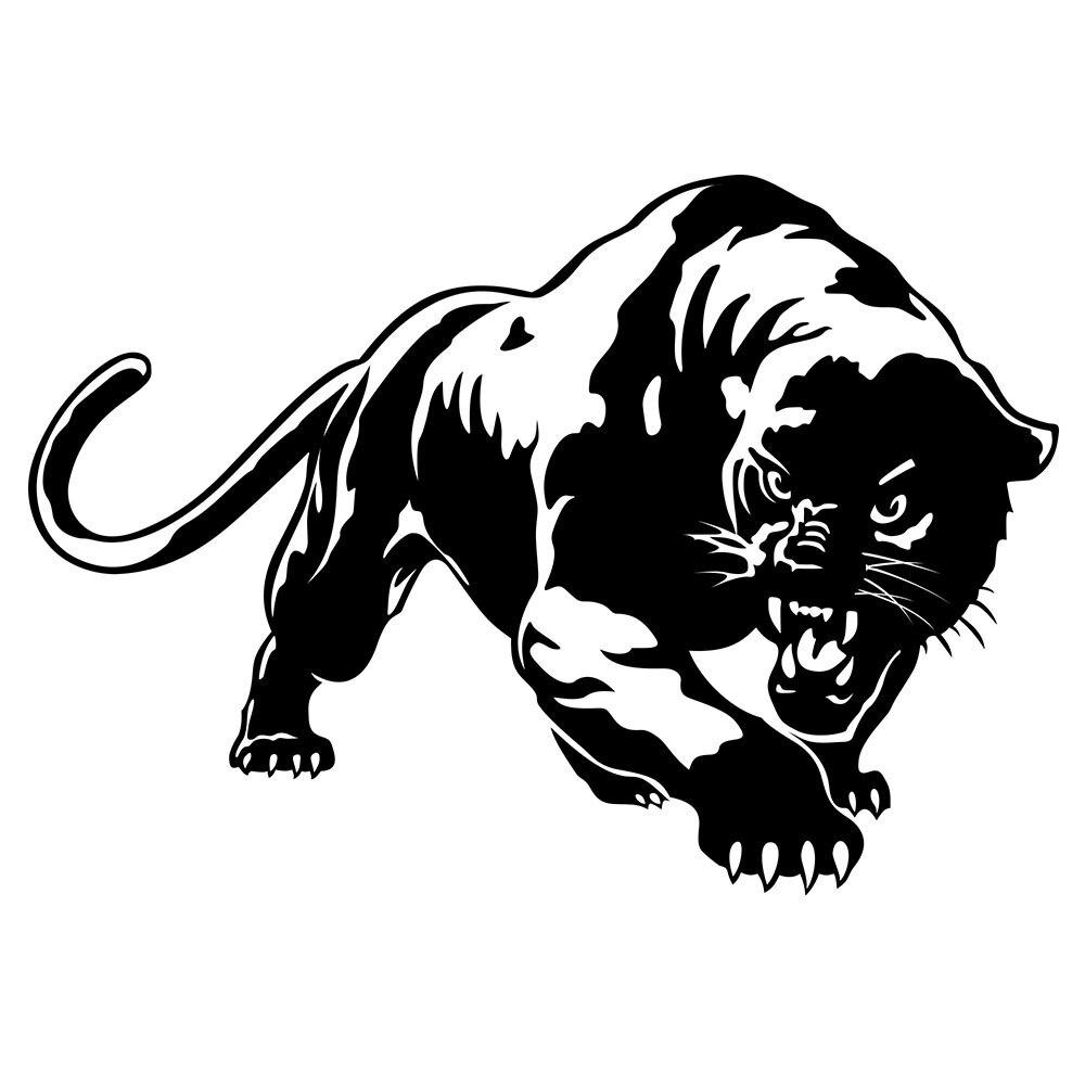 19,5*13,6 CM ardiente Pantera salvaje coche de caza cuerpo pegatina pegatinas para coche decoración de motos negro/blanco para bmw benz audi toyota