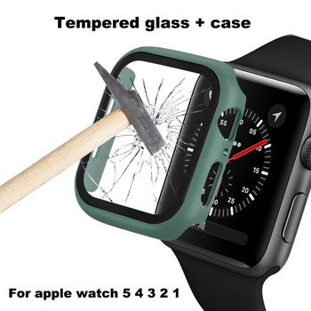 Screen Protector Film + PC case For Apple Watch Series 1 2 3 4 5 38mm 40mm 42mm 44mm for iwatch Tempered glass Replacement strap image