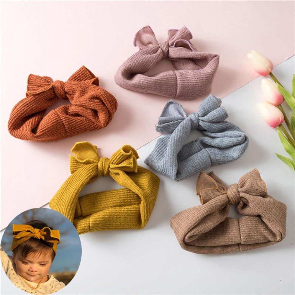 Soft Cotton Knit Baby Heaband Rabbit Ear Elastic Hearband Baby Headbands Baby