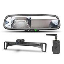 GERMID – moniteur d'aide au stationnement de 4.3 pouces avec rétroviseur pour voiture, caméra de Transmission numérique sans fil, 2.4G