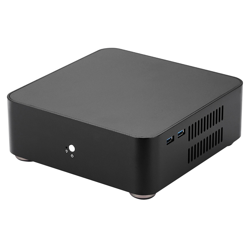 L65 Computer Cases Aluminum Chassis Desktop Mainframe with Usb 3.0 Port for Game Chassis Diy Mini Pc Itx Case