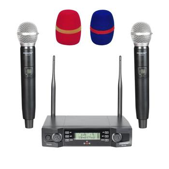 FB-U36 2 Way Adjustable Frequency Party Karaoke Handheld Wireless Microphone