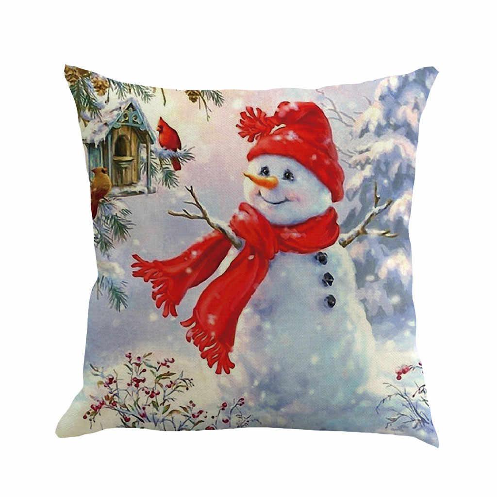 وسادة غطاء 2020 جديد ماركة كيس وسادة Housse دي koosin عيد الميلاد أريكة الزخرفية 45x45 سنتيمتر غطاء الوسادة Cojines
