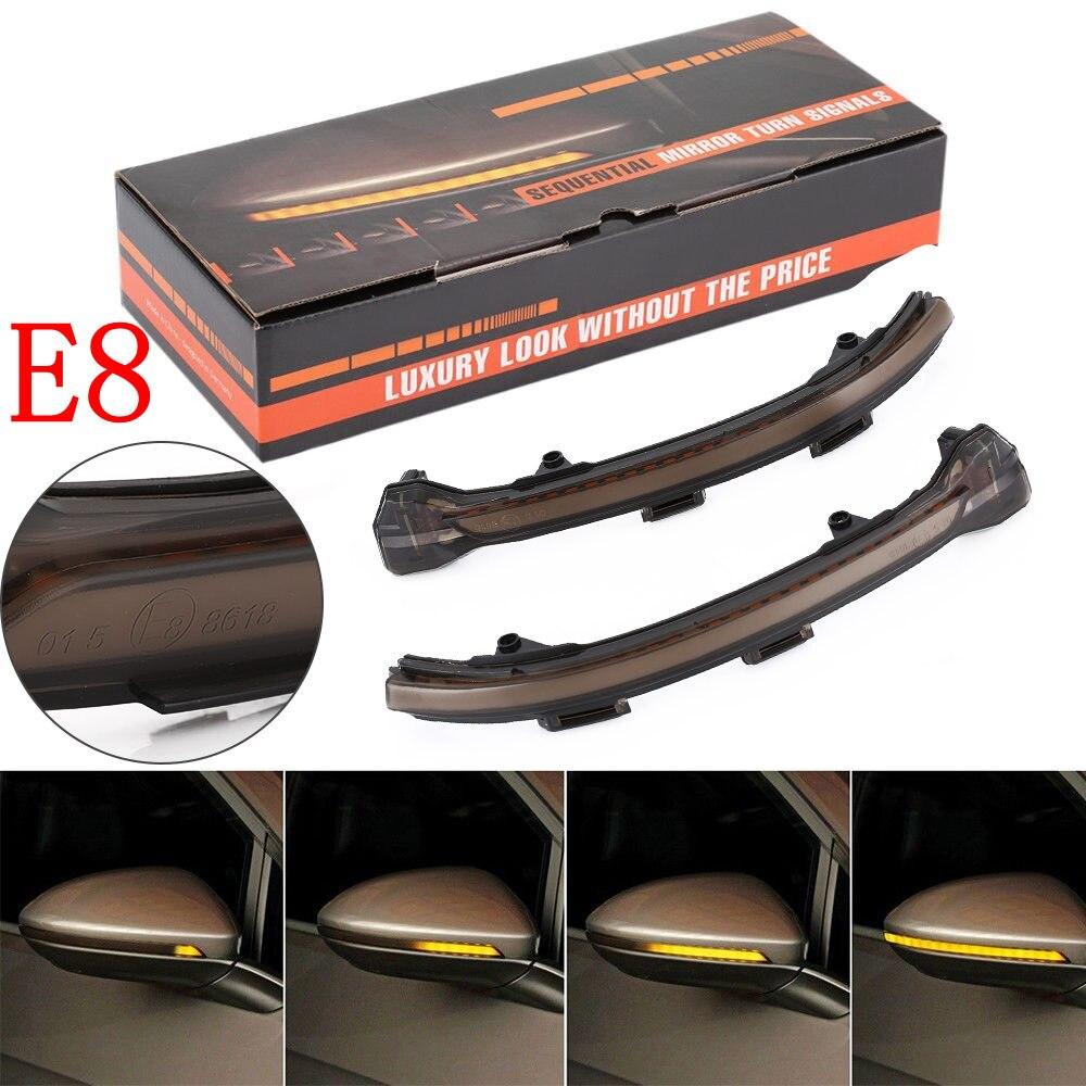 2 piezas Indicador de espejo lateral dinámica intermitente luz LED de intermitente para VW Golf 7 MK7 7,5 GTI R Sportsvan Touran L. II