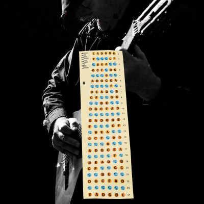 2Pcs גיטרה Fretboard הערות מפת תוויות מדבקת שחיף לדאוג מדבקות עבור 4 מחרוזת אקוסטית חשמלי Guitarra Accessaries