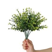 Wholesale Mini Artificial Flower Ins Eucalyptus Leaf Plant Christmas Plastic DecorativeGrass