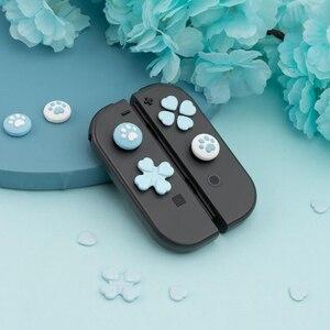 Image 3 - D pad לנוע צלב כיוון כפתור ABXY X מפתח מדבקת ג ויסטיק אגודל מקל אחיזת כובע כיסוי עבור Nintend מתג NS שמחה קון עור מקרה