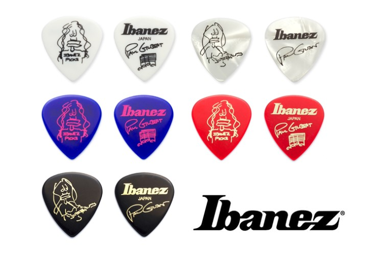 Ibanez Paul Gilbert Blue Signature Pick Plectrum Mediator, Sell By 1 Piece