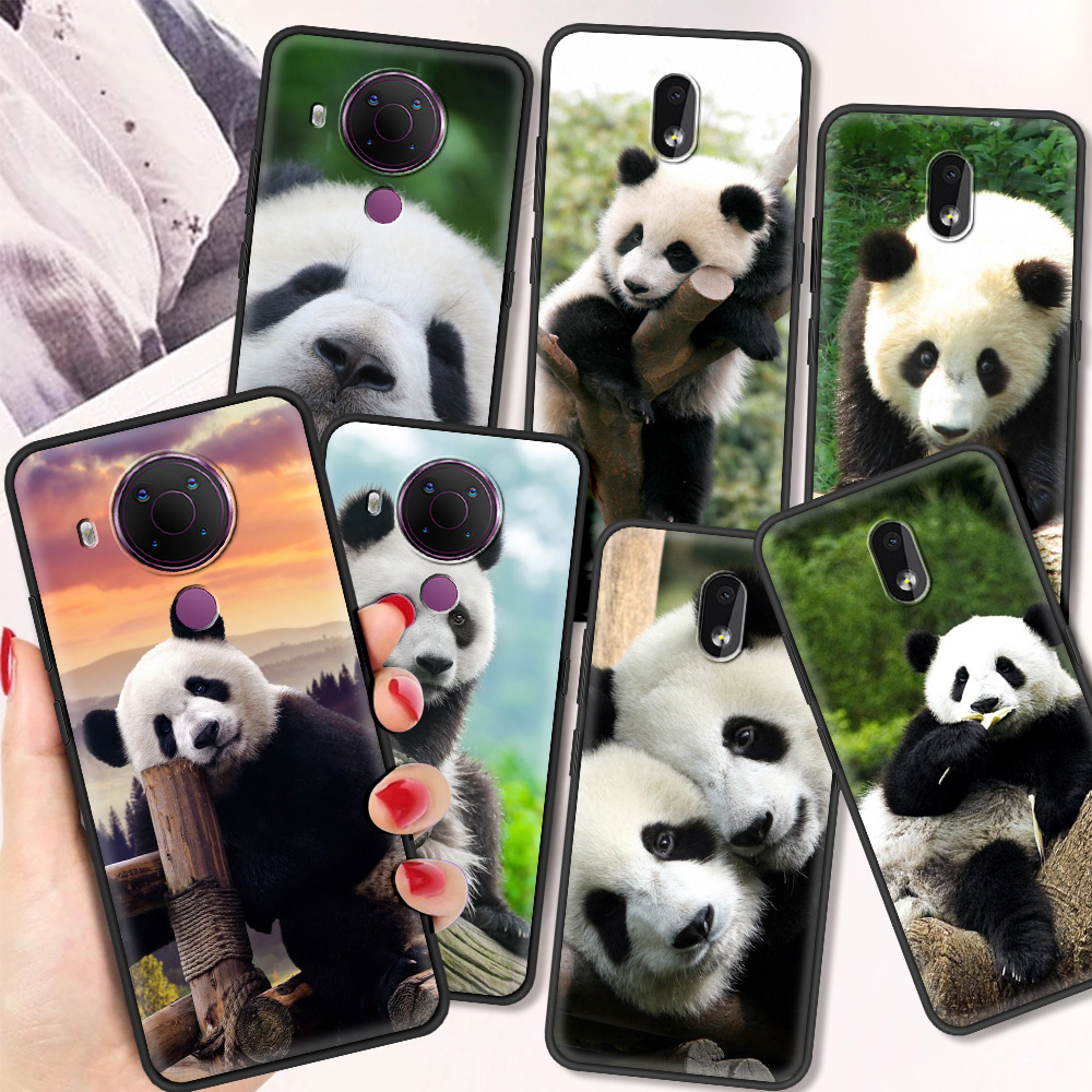 Panda Luxury Silicone Cover For Nokia 2.2 2.3 3.2 4.2 7.2 1.3 5.3 8.3 5G 2.4 3.4 C3 1.4 5.4