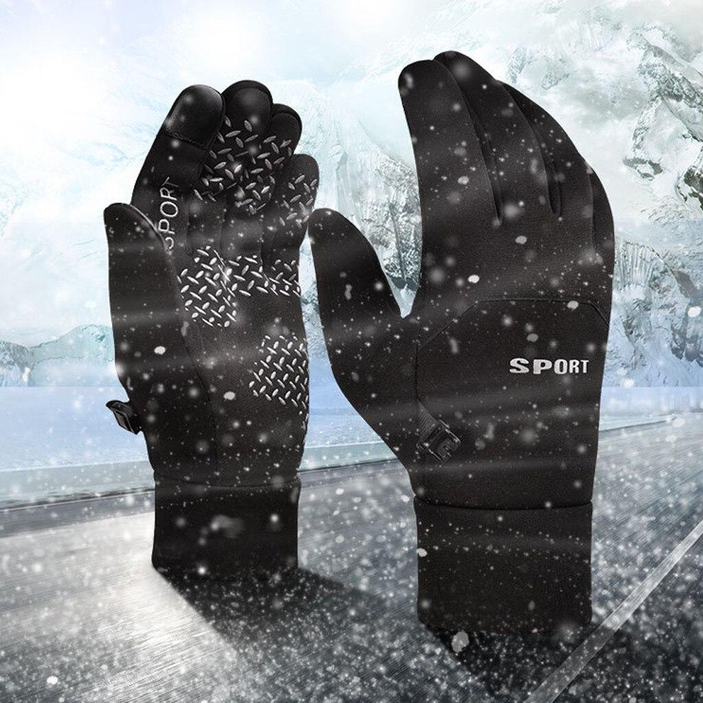 Рыболовные перчатки с закрытыми пальцами, неопреновые дышащие кожаные теплые аксессуары для фитнеса и ловли карпа, зимние лыжные перчатки, ...