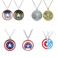 Marvel Comics Winter Soldier Captain America Necklace Shield Sign Logo Man's Pendant The Avengers Best Friend / Lover's Necklace ultimate comics captain america
