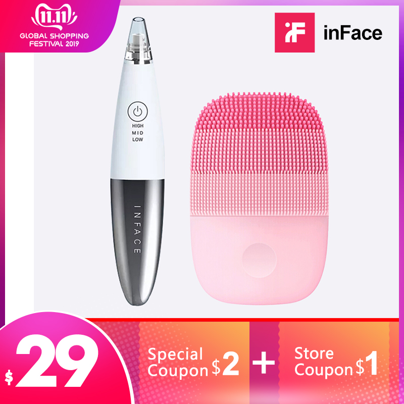 InFace Warehouse Blackhead Remover Machine And Facial Clean Machine Skin Scrubber Peeling Xiaomi Face Beauty Instrument