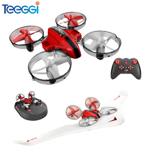Teeggi T11 3-in-1 Vehicle Detachable RC Drone EPP Flying Air Boat Glider