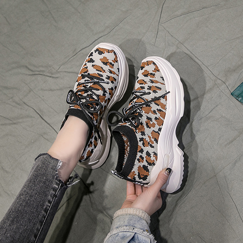 2020 Platform Spring Lady Sneakers Women Shoes Fashion Female Black Sneakers With High Sole Shoes Zapatos Mujer Casual Shoes