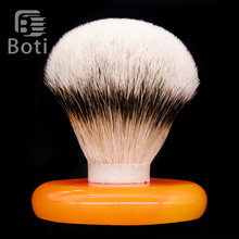 Boti Brush-SHD Leader Slivertip Badger Hair Knot Shaving Brush Knots Gel Tip Bulb Type Men's Beard Shaping Tool Round Chassis