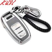 Мягкий чехол из ТПУ для защиты ключей для Audi A4 A4L A5 A6 A6L Q5 S5 S7 защитный чехол для стайлинга автомобиля чехол умный ключ Стайлинг