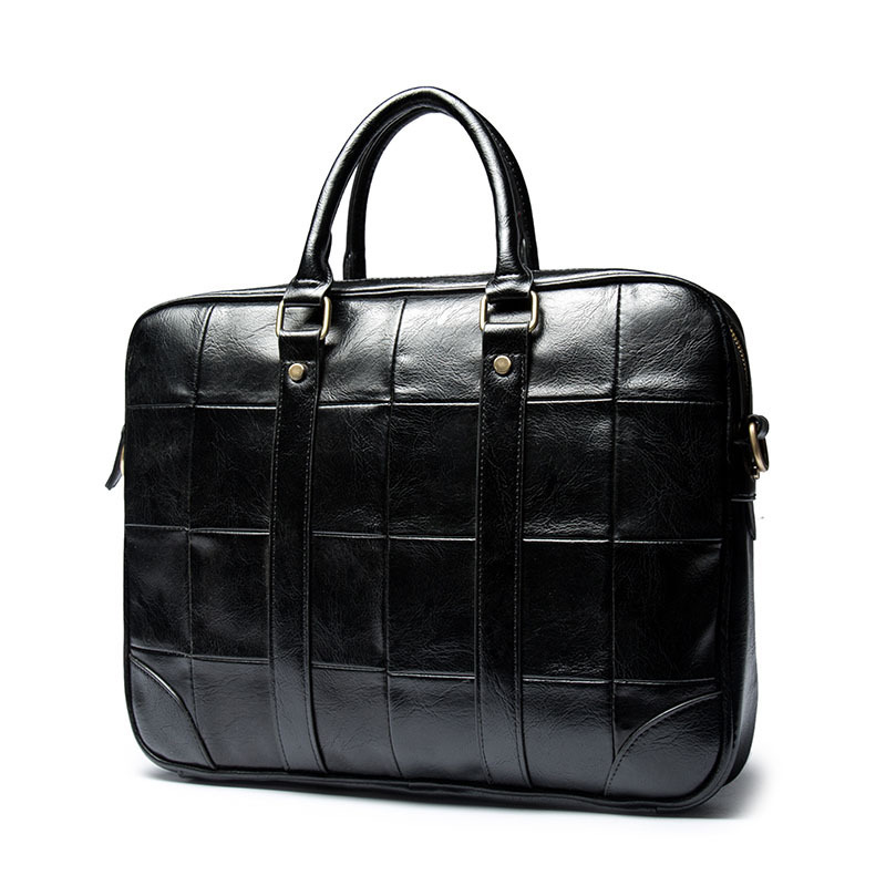 Checked business handbags retro men 39 s casual men 39 s handbags fashion computer briefcase in Briefcases from Luggage amp Bags