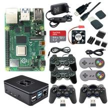 Ram-Game-Kit Case Gamepad Power-Supply Sd-Card Raspberry Pi 4-Model 4GB with USB Joystick