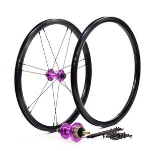 "Image 5 - Silverock โลหะผสมล้อ 16 ""1 3/8"" 349 เบรคขอบ NBR 14H 21H สำหรับ Brompton 3 Sixty จักรยานพับ CUSTOM จักรยานล้อหลายสี"