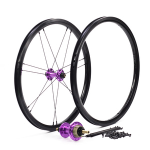 "Image 5 - Silverock Alloy Wheels 16"" 1 3/8"" 349 Rim Brake NBR 14H 21H For Brompton 3sixty Folding Bike Custom Bicycle Wheelset Multi Color"