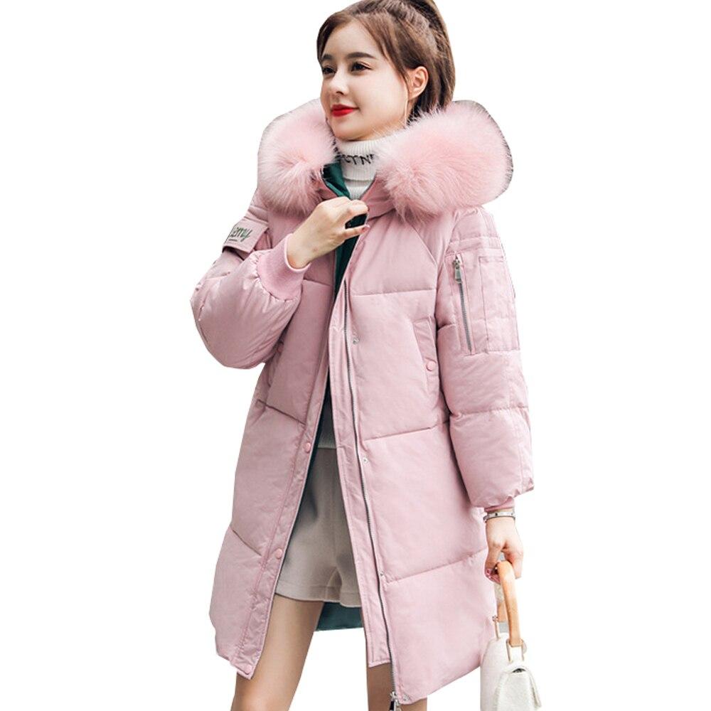 Hot sale New winter jacket mid-long jacket down   parka   Jacket Women Hooded Long 909