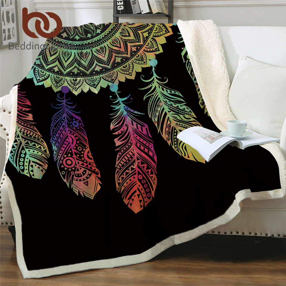 Beddingoutlet Dreamcatcher Sherpa Decke Böhmischen Mandala Sherpa Fleece Decke Auf Dem Bett Sofa Bunte Plaid Bettdecke Decken Aliexpress