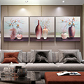 Living Room Decorative Painting Restaurant Porch Aisle Three-dimensional Embossed Scratch Painting Still Life Vase Wall 3D Mural