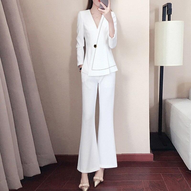 Suit Women Professional Wear New Fashion Temperament Commuter Suit Pants Suit Female Dress Temperament Work Clothes Two-piece