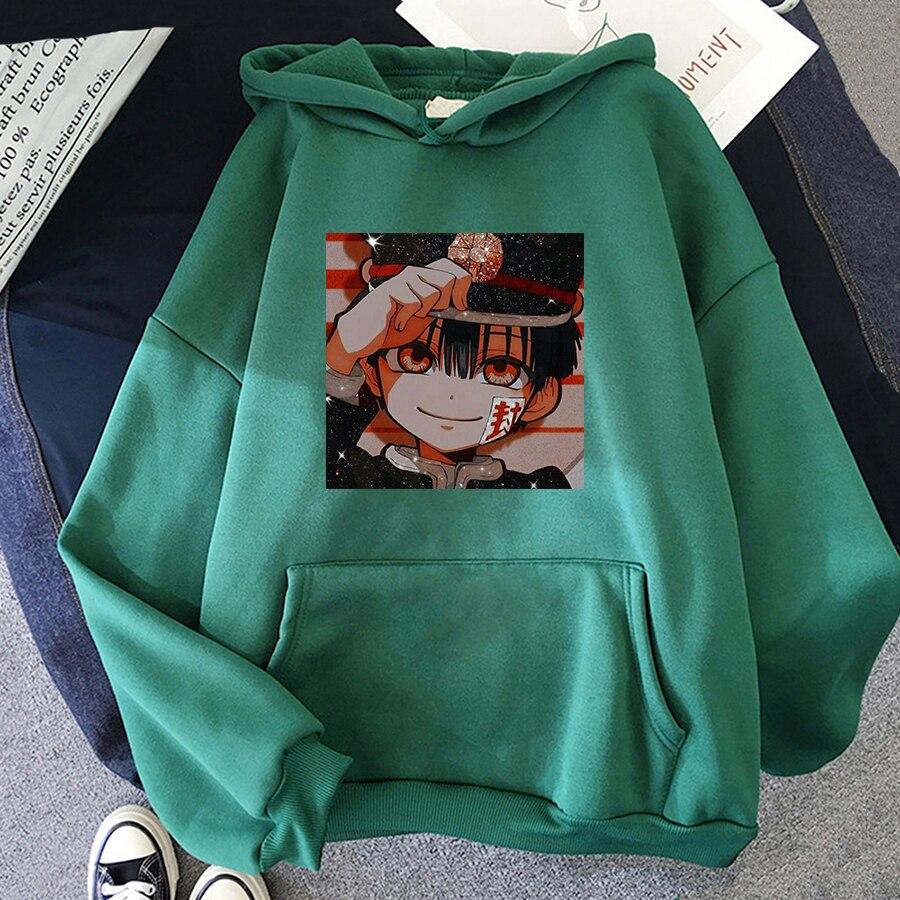 Jibaku Shounen Hanako kun Harajuku Womens Hoodie Fashion Fleece Hoodies Casual Clothes Street Loose Female Sweatshirt 15